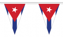 Cuba Triangular Flag Bunting - 20m Long - 54 Flags